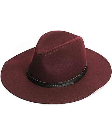 Trillium Burgundy Panama Hat