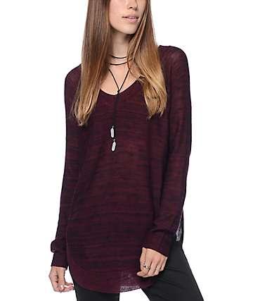 Trillium Cara V-Neck Pullover Sweater