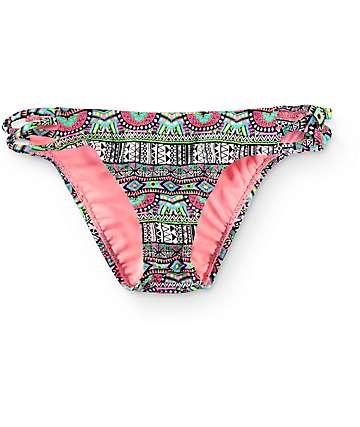 Trillium Coastal Carnival Strappy Hipster Bikini Bottom