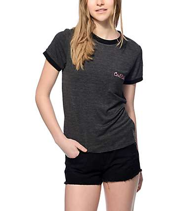 Trillium Cool Kids Black Ringer Pocket T-Shirt