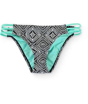 Trillium Diamond Dazzle Strappy Hipster Bikini Bottom