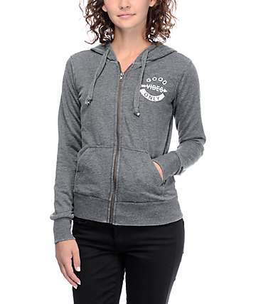 Trillium Easton Charcoal Zip Up Hoodie