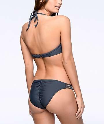 Trillium Grey 3 Strap Cheeky Bikini Bottom