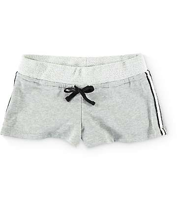 Trillium Jami Braid Side Grey Fleece Shorts