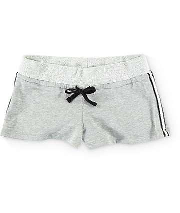 Trillium Jami Braid Side Grey Fleece Shorts