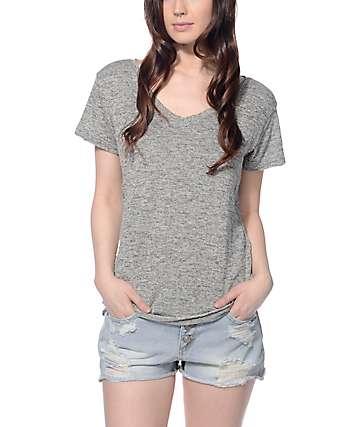 Trillium Jasper Grey Hacci V-neck T-Shirt