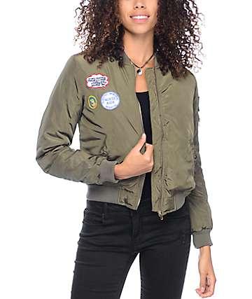Trillium Jaymie Olive Bomber Jacket