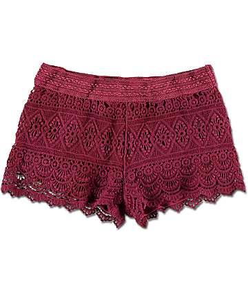 Trillium Jessica short de crochet en borgoña