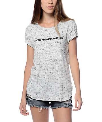 Trillium Kian Wander Grey Slub Cuff T-Shirt