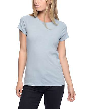 Trillium Lisa Light Blue Destroyed T-Shirt