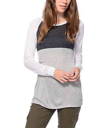 Trillium Liz Charcoal, White & Grey Block 23 Top