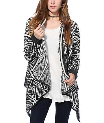 Trillium London Tribal Waterfall Cardigan