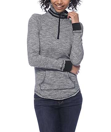 Trillium Luke Charcoal Half Zip Fleece Sweatshirt