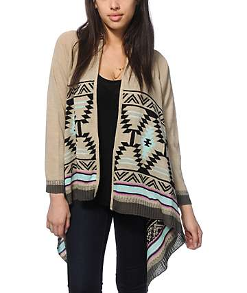 Trillium Meagan Multi Tribal Cardigan