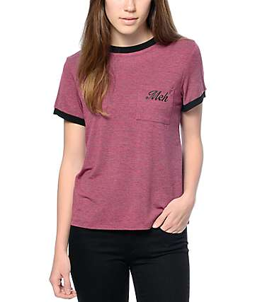 Trillium Meh Red & Black Ringer T-Shirt