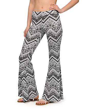 Trillium Mia Chevron Tribal Flared Pants