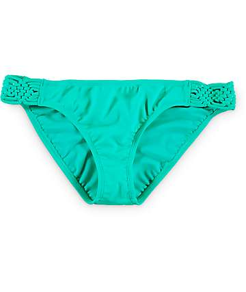 Trillium Mint Macrame Side Hipster Bikini Bottom
