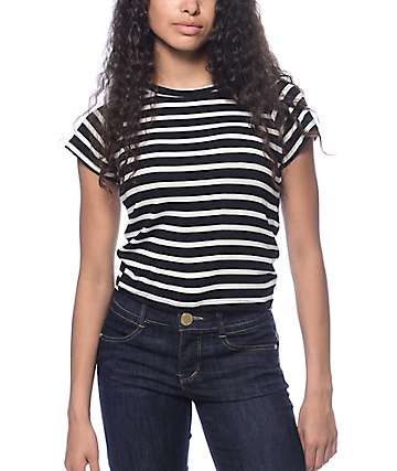 Trillium Miss Striped Black & White T-Shirt