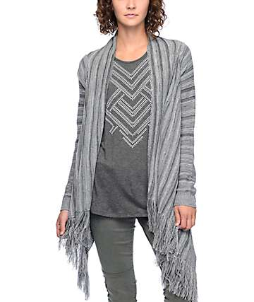 Trillium Morgan Grey Waterfall Cardigan