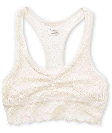 Trillium Natural White Lace Racerback Bralette