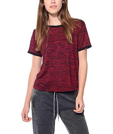 Trillium Oliver Burgundy Hacci Ringer T-Shirt