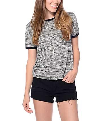 Trillium Oliver Grey Hacci Ringer T-Shirt