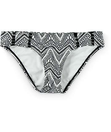 Trillium Secret Geo Cage Detail Hipster Bikini Bottom