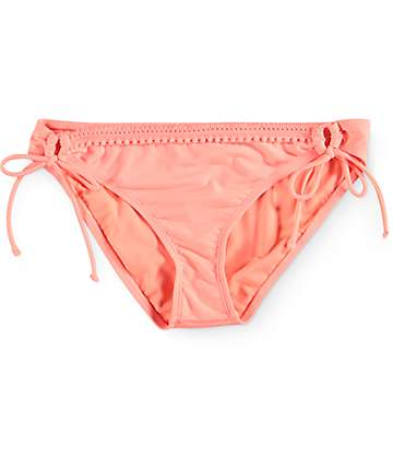 Trillium Spicy Chevy Pom Trim Side Tie Bikini Bottom