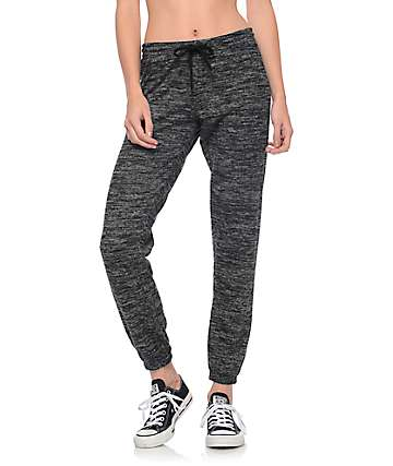 Trillium Sweet P Black Cozy Lounge Sweatpants