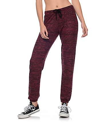 Trillium Sweet P Burgundy Cozy Lounge Sweatpants