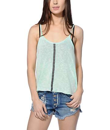 Trillium Tribal Tape Hacci Tank Top