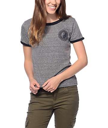 Trillium Yin Yang Charcoal Ringer T-Shirt