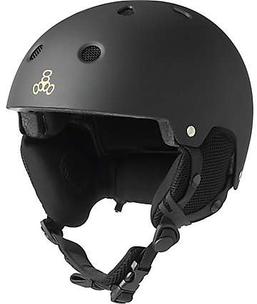 Triple Eight Audio Black Snowboard Helmet