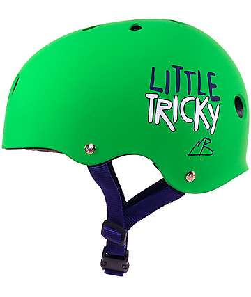 Triple Eight Little Tricky Green Skateboard Helmet