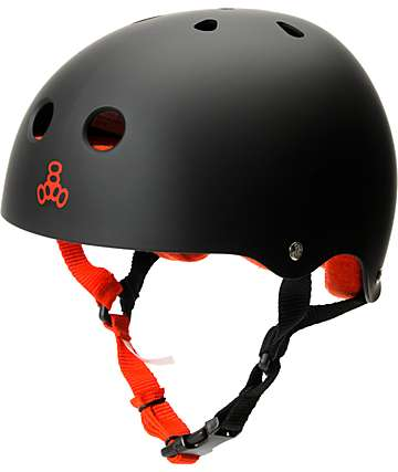 Triple Eight Matte Black Sweatsaver Skateboard Helmet