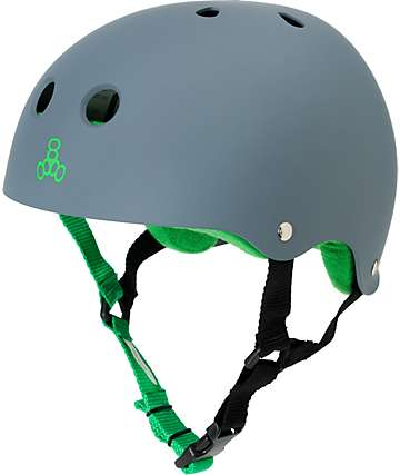Triple Eight Sweatsaver Matte Grey Rubber Skateboard Helmet