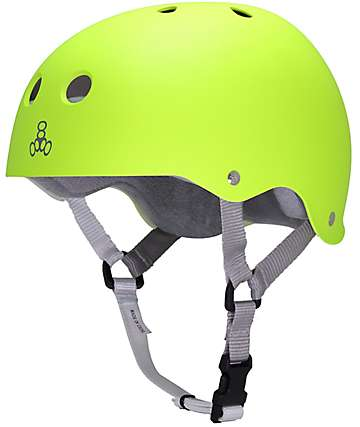Triple Eight Sweatsaver Zest Rubber Skateboard Helmet