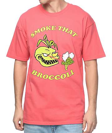 Trippy Burger Broccoli Coral T-Shirt