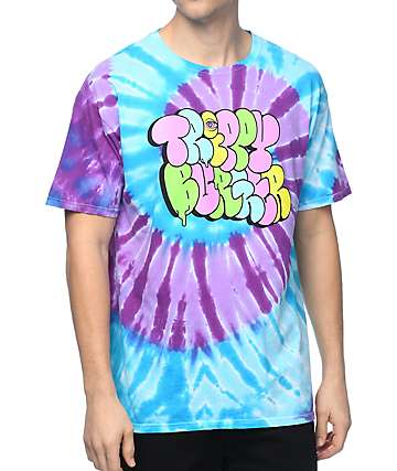 Trippy Burger Graffiti Tie Dye T-Shirt