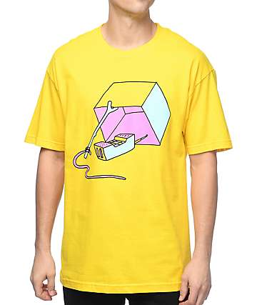 Trippy Burger Trap Yellow T-Shirt