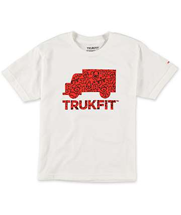 Trukfit Boys Radiant Fill White T-Shirt