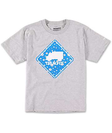 Trukfit Boys Stop Dot Grey T-Shirt