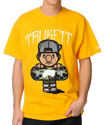 Trukfit Tommy Camo Dark Yellow T-Shirt