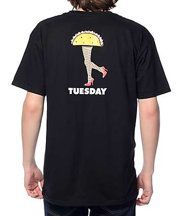 Tuesday Taco Legs Black T-Shirt