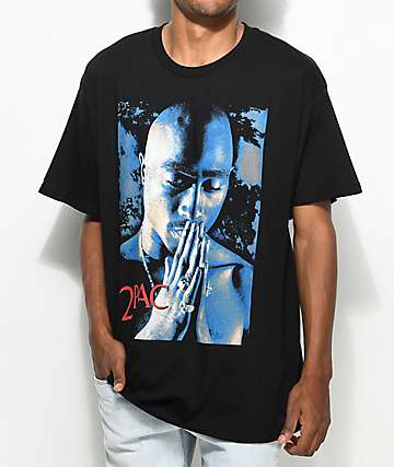Tupac Pray Black T-Shirt