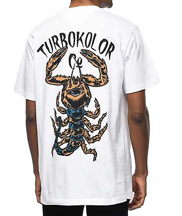 Turbokolor Scorpion White T-Shirt