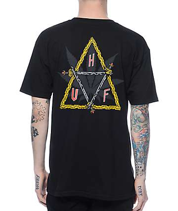 Ty Dolla $ign For HUF 420 Collection Swords Triple Triangle Black T-Shirt