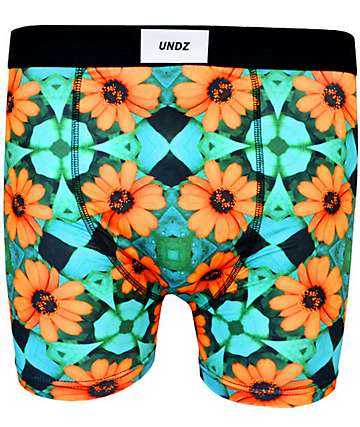 UNDZ Orange Flower Boxer Briefs