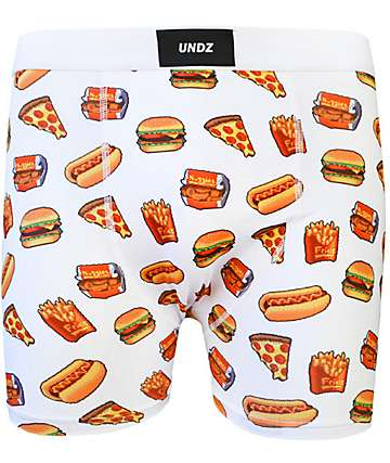 UNDZ Pixel Fast Food Boxer Briefs