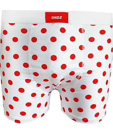 UNDZ Red Dots White Boxer Briefs